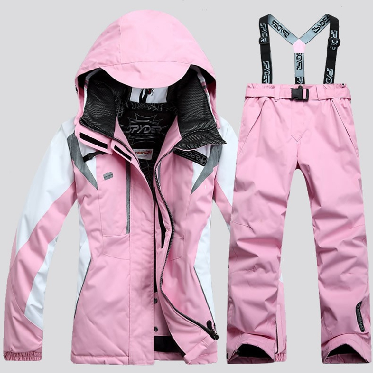 New outdoor authentic sports women's thickening ski suits Jackets cotton trousers waterproof super warm