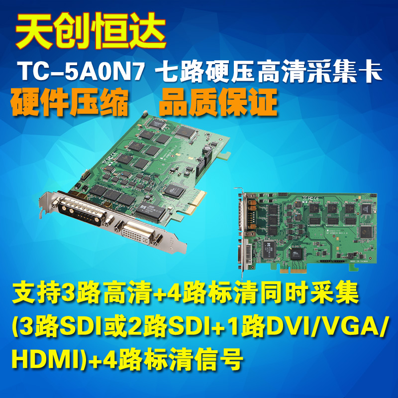Tianchuanghengda TC5A0N7 High Definition Video Acquisition Card Acquisition 7 Channels Hardware Compression SDI/HDMI/DVI