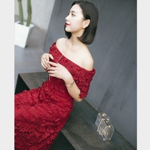 Korean Princess word shoulder simple Banquet toast clothing