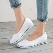 The nurse work shoe white shoe wedges female old Beijing shoes shoes dance shoes shoes spring summer beauty salon