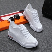 Europe in the summer of 2017 new shoes lace thick soles increased white shoe all-match breathable mesh casual shoes