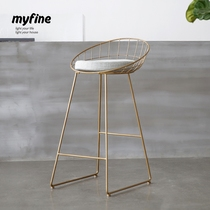 Maifan myfine modern Nordic balcony table and chair Iron Outdoor Chair Cafe Creative fashion negotiation table and chair