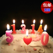 Smokeless digital candle birthday gift childrens new year creative cake decoration baking party supplies.
