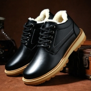 Winter cotton shoes all-match trend of Korean male British casual shoes and shoes two cashmere thermal thickening shoes