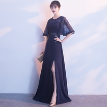 Winter banquet high end elegant lace dress dress