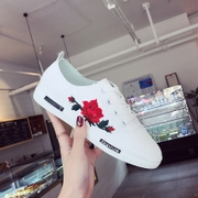 Korean version of the new shoes 2017 spring all-match white shoe lace embroidery female students a comfortable shoes casual shoes
