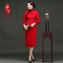 0 improved sheep fluff daily vintage wool dress dress