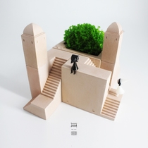 No non-monument Valley around concrete cement handmade original Creative Florist quality designer gift Decoration