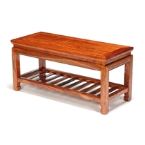 Pear Wood Chinese Spring stool solid wood double change Shoe stool mahogany home double length square stool long shoe cabinet