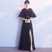 Winter banquet elegant party lace black dress skirt