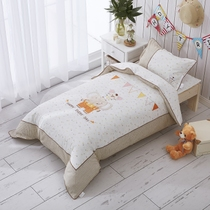 Cotton embroidered infant son-mother was a kindergarten napping three piece cotton quilt bedding set of seven core