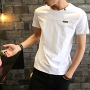2 pieces of short sleeved T-shirt collar Youth Summer men half sleeve white t-shirt men clothes coat color