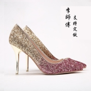 Every day of special high heels of high-heeled shoes of the special features of the new style of marriage marriage shoes is fine the shoe of the bride of the small size of the shoe