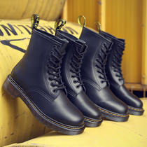 Shop repeat customers over a thousand three colors couple Martin boots men and women with the same retro British wind leather boots locomotive.