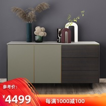Guangdong three-year-old shop to ensure that simple cabinet cabinets slate side cabinet Italian minimalist 1.6 meters ultra-thin edge small household smoke