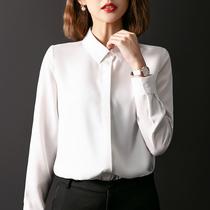 женская рубашка Гуандун горячие продажи более тысячи девять цветов рубашки профессиональное платье платье белый шифон с длинными рукавами плюс-на темперамент