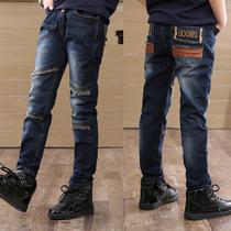 Детские джинсы Семилетний магазин 15 цветов детских джинсов мальчиков в больших детских осенне-зимних брюках