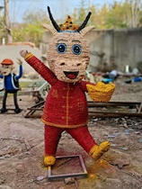 Straw crafts to make straw custom large-scale characters cartoon farming crafts straw hand-made pieces